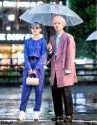Rainy Harajuku Street Snaps w/ Punk Cake Vintage Jumpsuit, Gucci, Kinji & Clear Umbrella