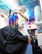 Viva Cute Candy! Kawaii & Colorful Hair Salon in Tokyo – Styling Video & Pictures Featuring Haruka Kurebayashi