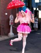 Vivid Vi Vrant Eyelash Designer's Pretty Pink Harajuku Style
