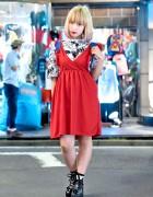 Dip Dye Bob, Nadia Harajuku Dress, Tokyo Bopper & Vivienne Westwood Bag