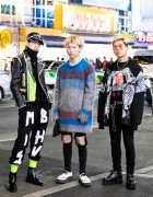 Harajuku Guys in Punk-Inspired Styles w/ 99%IS-, MISBHV, More Than Dope, Plastic Tokyo & Yohji