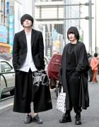 Monochrome Harajuku Street Styles by Yohji Yamamoto, Lad Musician & Issey Miyake