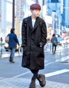 Harajuku Guy w/ Purple Hair, Yohji Yamamoto Coat, MORPH8NE & Never Mind the XU