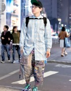 Bodysong Glitch Shorts, Zigg Top, Dario & Puma in Harajuku