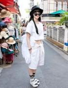 I Tokyo Me Crop Top, Shorts & Platform Sandals in Harajuku